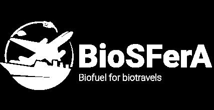 Biosfera - Biofuel for Biotravel logo white